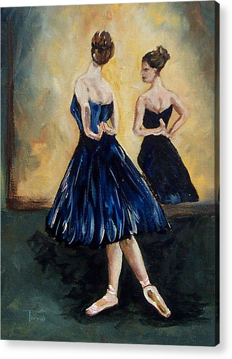 Ballet Acrylic Print featuring the painting The Dancer by Torrie Smiley
