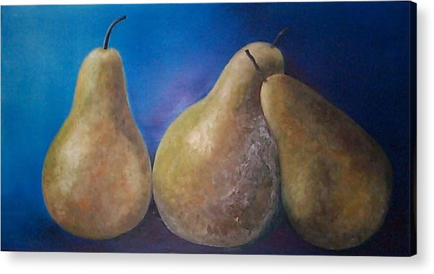 Pears Acrylic Print featuring the painting The Famous Pears by Marina Owens