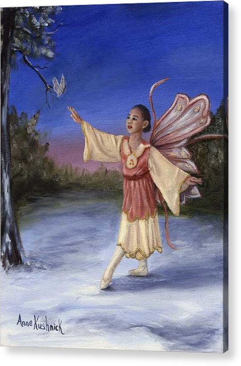 Christmas Acrylic Print featuring the painting The Gift by Anne Kushnick