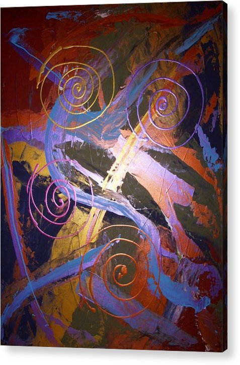 Abstract Acrylic Print featuring the painting The Majestic by Joey Santiago