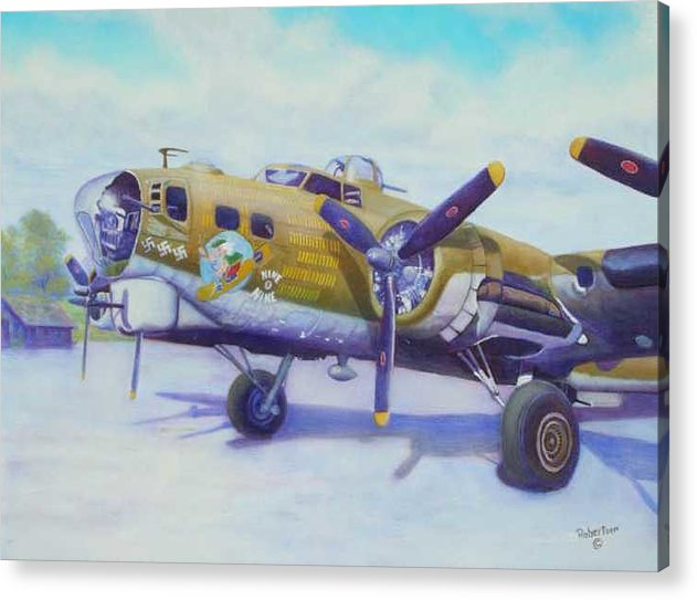 B-17 Acrylic Print featuring the painting The Nine O Nine by Scott Robertson