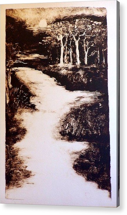 Landscape Acrylic Print featuring the painting The Past by Ilona Petzer