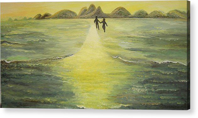 Soul Acrylic Print featuring the painting The Road In The Ocean Of Light by Karina Ishkhanova