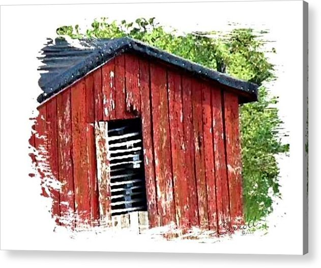 Farm Acrylic Print featuring the photograph The Shack by Linda Carroll