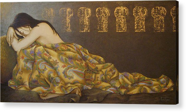 Thetis Acrylic Print featuring the painting Thetis- The Dream by Barbara Gerodimou