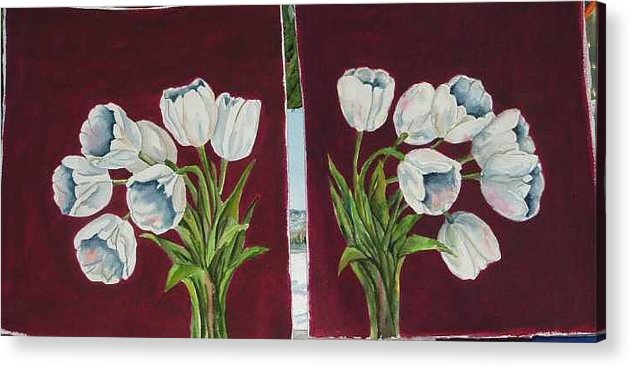 Acrylic Print featuring the painting Tulips 11 And 12 by Diane Ziemski