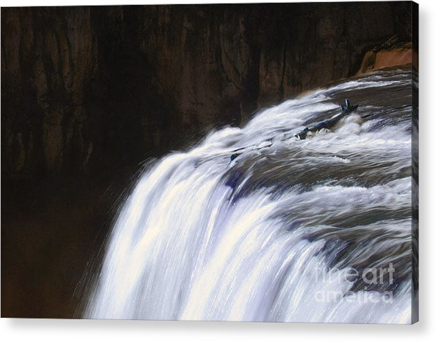 Falls Acrylic Print featuring the photograph Upper Mesa Falls by Dennis Hammer
