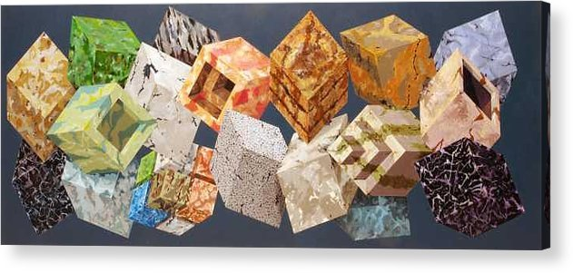Optical Acrylic Print featuring the painting Variations in Stone by Marston A Jaquis