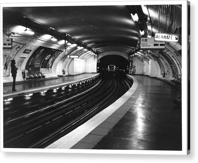 Cityscape Acrylic Print featuring the photograph Vavin Station Paris Metro by Gordon Lukesh