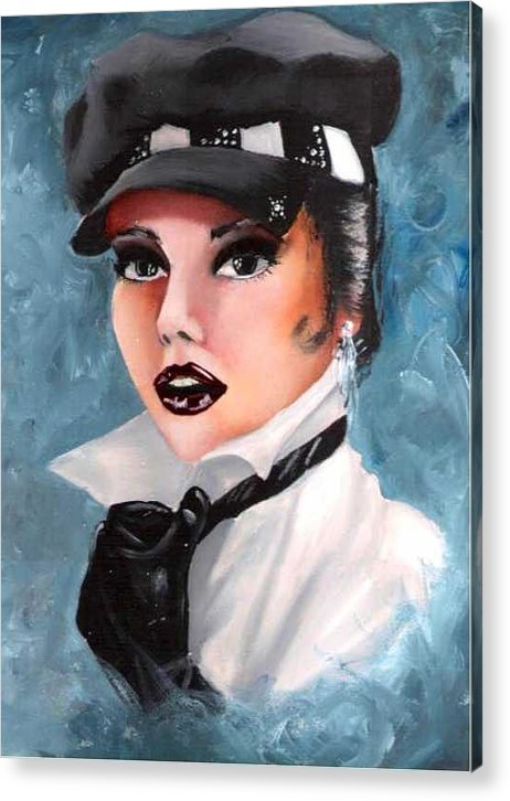 Portrait Acrylic Print featuring the painting Veronica by Scarlett Royal