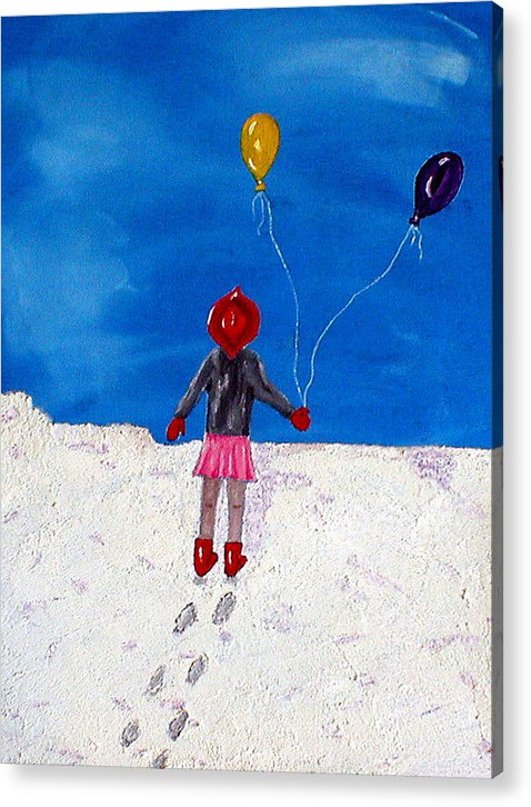 Girl Acrylic Print featuring the painting Victoria by Sandy Wager