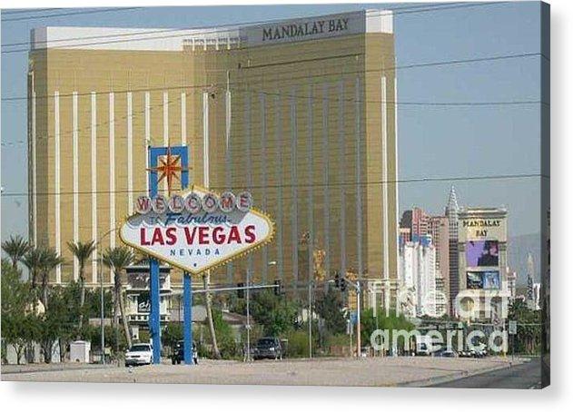 Vegas Acrylic Print featuring the photograph Viva Las Vegas by Barb Montanye Meseroll