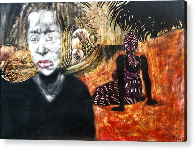 Acrylic Print featuring the mixed media Waiting by Chester Elmore