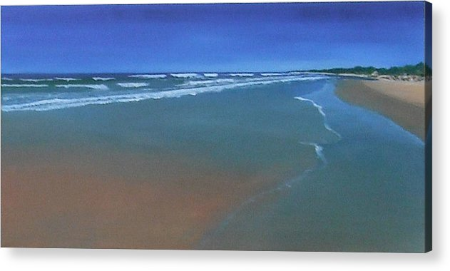 Ocen Acrylic Print featuring the painting Wide Bay by Judy-Joy Bell