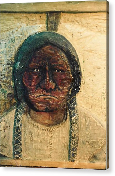 Indian Acrylic Print featuring the sculpture Chief Sitting Bull by Michael Pasko