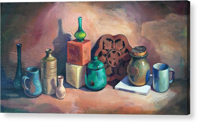 Sill Life Acrylic Print featuring the painting Still Life II by Farhan Abouassali