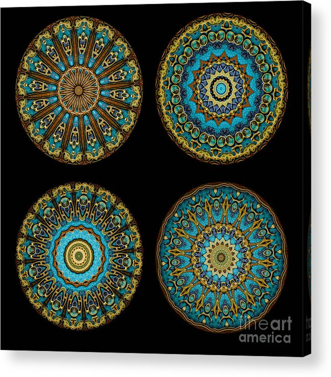 Fantasy Acrylic Print featuring the photograph Kaleidoscope Steampunk Series Montage by Amy Cicconi
