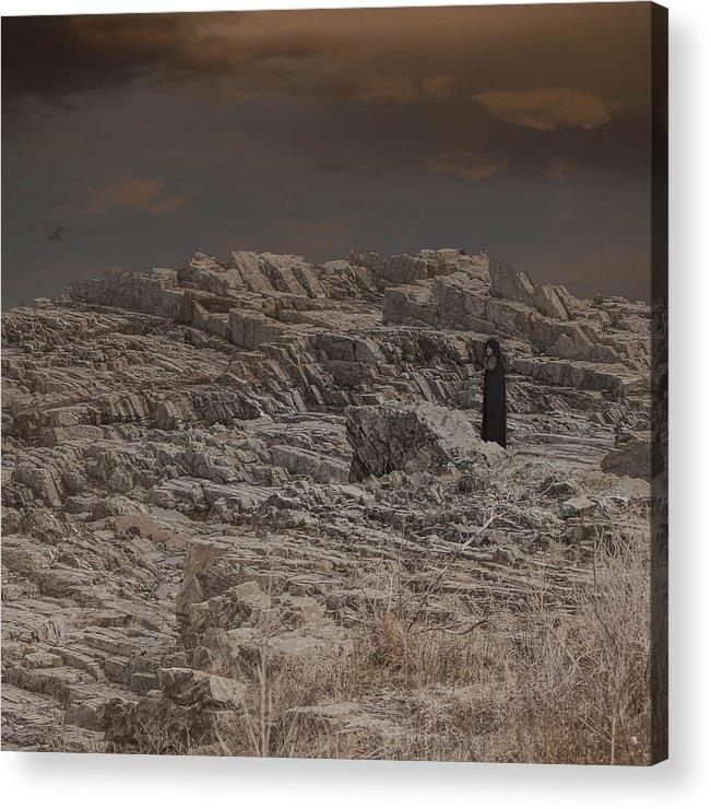 Pennington Acrylic Print featuring the digital art Outcast by George Pennington