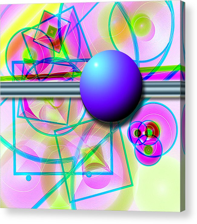Abstract Acrylic Print featuring the digital art 80's Whatever by Carl Perry