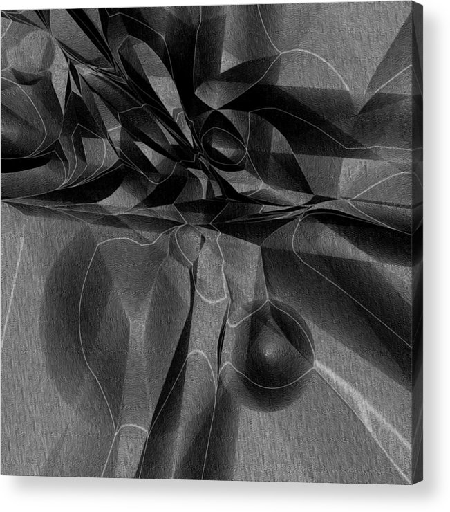 Abstract Acrylic Print featuring the digital art Black Ridge by Carl Perry