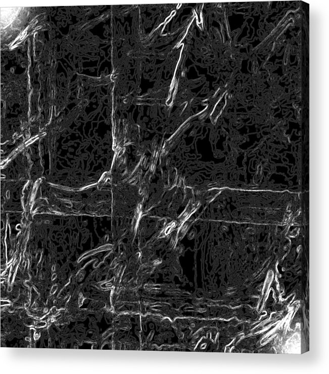 Abstract Acrylic Print featuring the digital art Creepy by Carl Perry