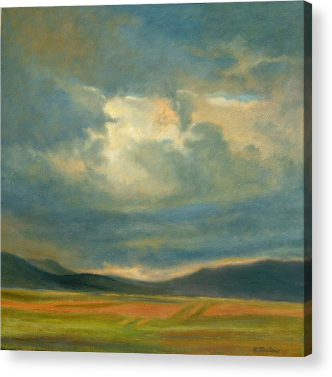 Southwest Acrylic Print featuring the painting Emergence by Phyllis Tarlow