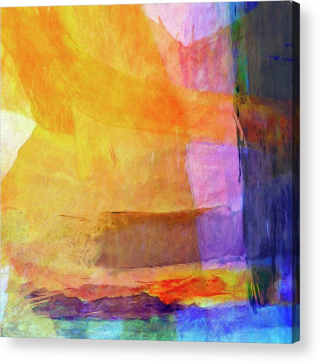 Abstract Acrylic Print featuring the painting Mohave by Dominic Piperata