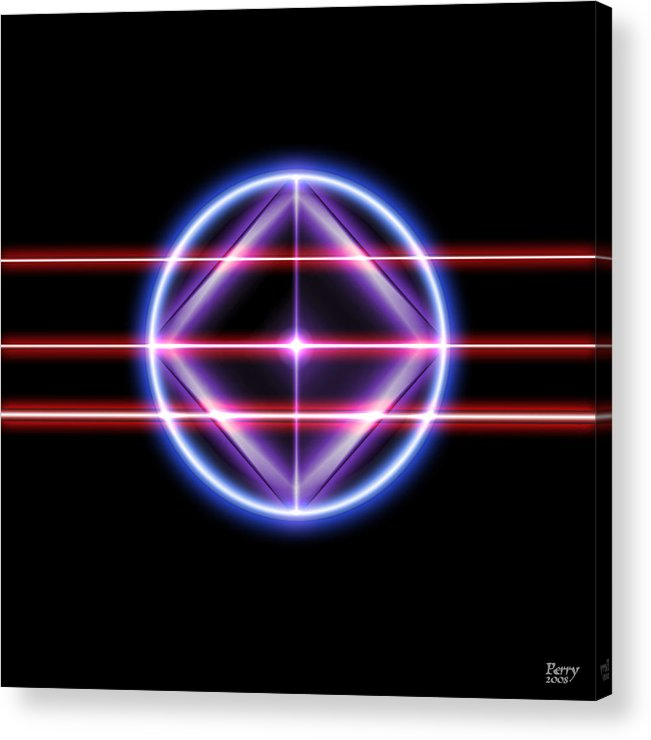 Neon Acrylic Print featuring the digital art Neonesq by Carl Perry