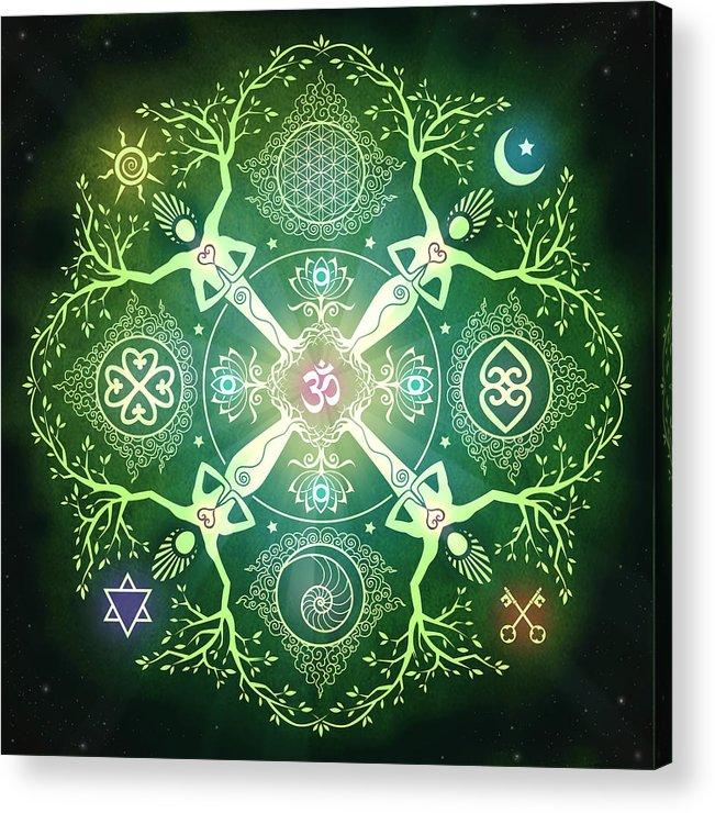 Mandala Acrylic Print featuring the digital art Numinosity Mandala by Cristina McAllister