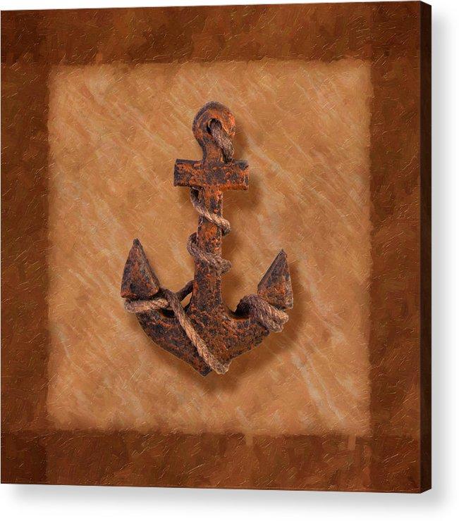 Anchor Acrylic Print featuring the photograph Ship's Anchor by Tom Mc Nemar
