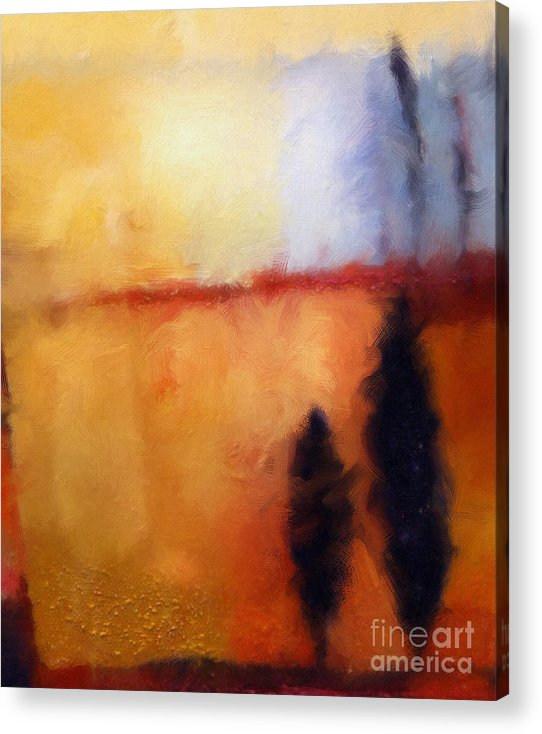 Abstract Art Paintings Acrylic Print featuring the painting Lightscape Digital by Lutz Baar