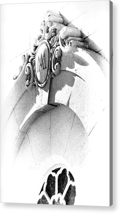 Abstract Acrylic Print featuring the photograph Cemetery Entrance by Mike Vines