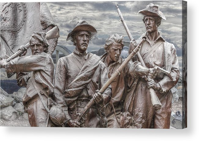 Sons Of The Confederacy Acrylic Print featuring the digital art The South Will Rise Again by Randy Steele
