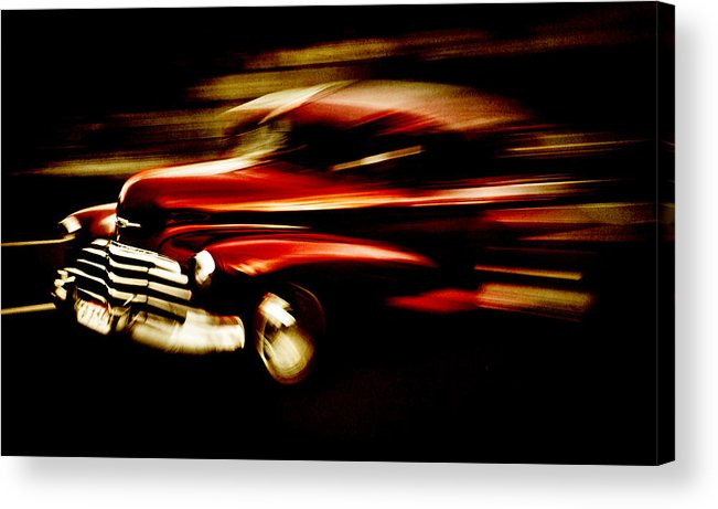 Custom Chevrolet Acrylic Print featuring the photograph 1947 Red Chevrolet by Phil 'motography' Clark