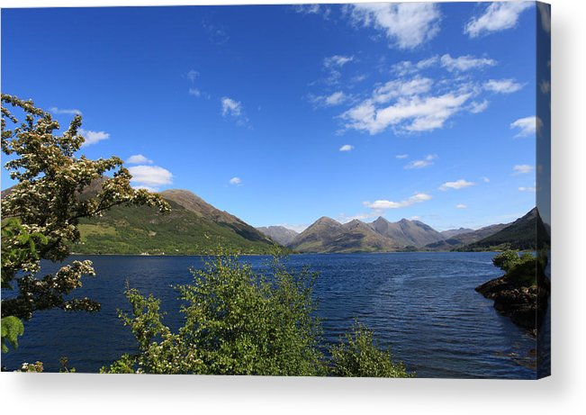Scotland Acrylic Print featuring the photograph Loch Duich Scotland by Ollie Taylor