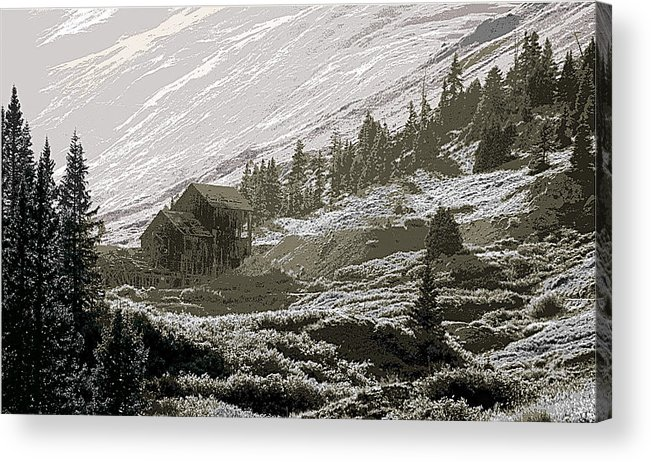 Colorado Acrylic Print featuring the photograph Anamis Forks Colorado by Steve Archbold