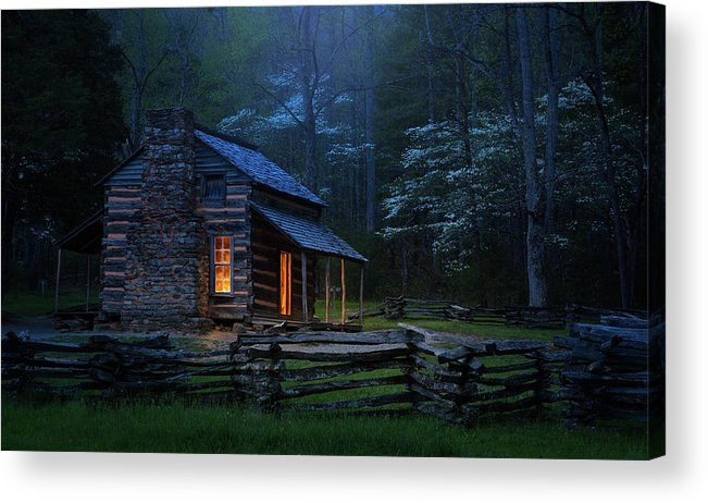 Cabin Acrylic Print featuring the photograph Back To Good Old Days by J&w Photography