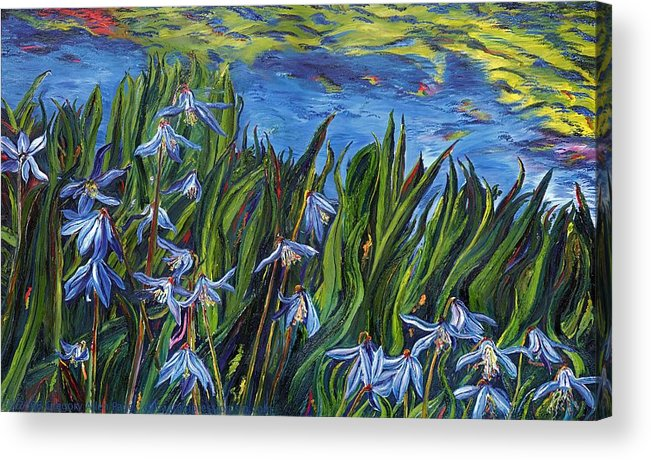 Flowers Acrylic Print featuring the painting Cilia Flowers by Gregory Allen Page