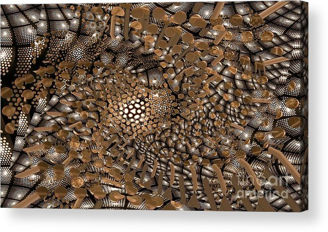Abstract Acrylic Print featuring the digital art Copper Head by Ron Bissett