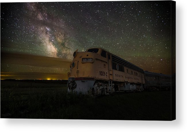 #central Acrylic Print featuring the photograph Galactic Express by Aaron J Groen