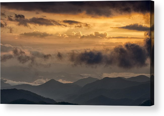 Sunset Acrylic Print featuring the photograph Glow Time by Ed Kelley