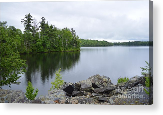 Maine Acrylic Print featuring the photograph Lake Hebron by Meandering Photography