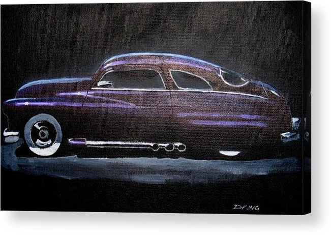 1949 Mercury Acrylic Print featuring the painting Lowrider by Daniel King