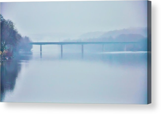 Route Acrylic Print featuring the photograph Route 202 Bridge Over The Delaware River by Bill Cannon