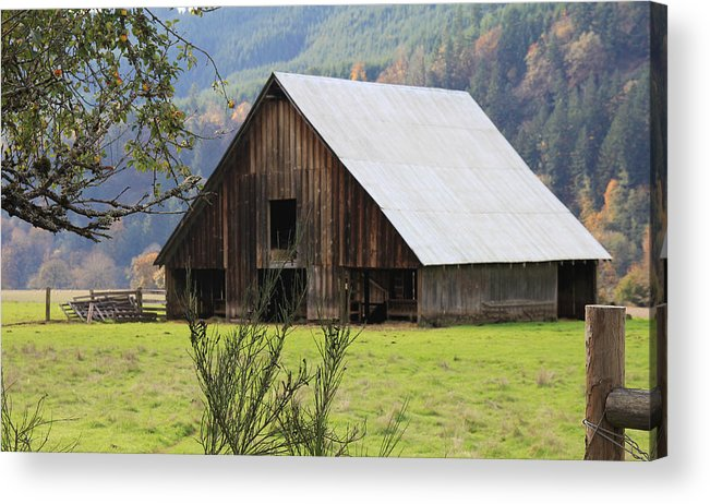 Wood Acrylic Print featuring the photograph Sheep Barn by Katie Wing Vigil