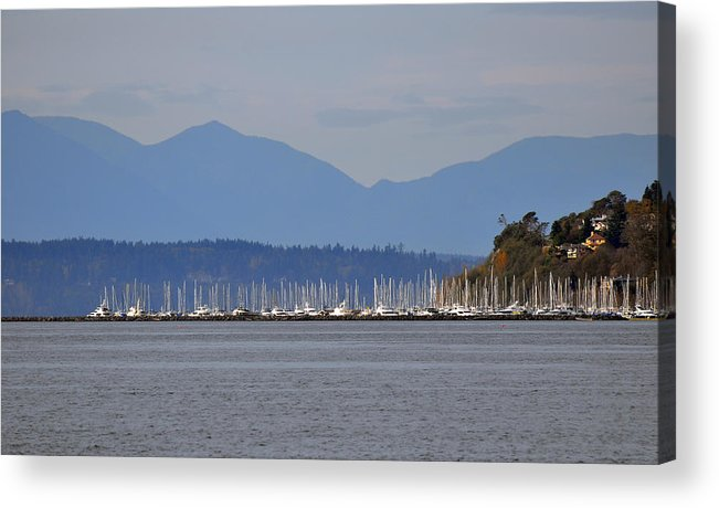 Sail Boats Acrylic Print featuring the painting The Puget Sound by Kirt Tisdale
