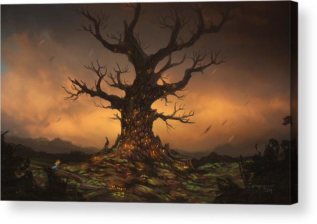 Tree Acrylic Print featuring the digital art The Tree by Cassiopeia Art