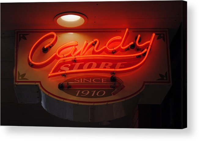 Fair Acrylic Print featuring the photograph Candy by Skip Willits