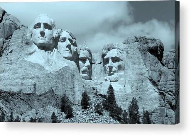 South Dakota Acrylic Print featuring the photograph Four Fathers by Casey Taylor