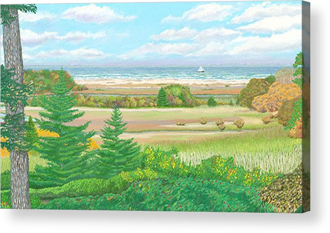 Cape Cod Acrylic Print featuring the painting Pilgrim 2 Provincetown by Douglas Auld